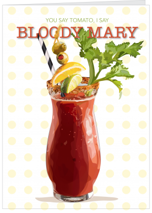 Illustration of Bloody Mary cocktail by The Red Barn Press