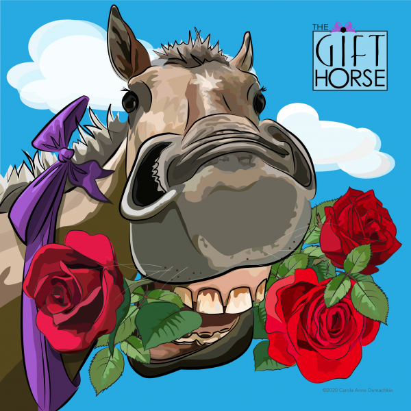 illustration of a gift horse