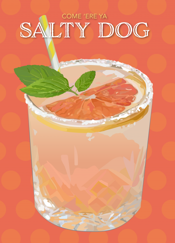 illustration of Salty Dog cocktail