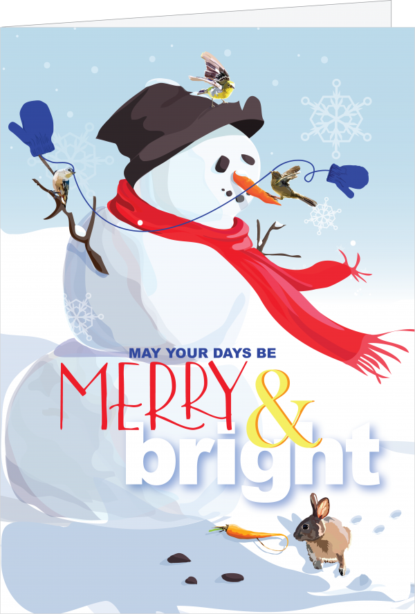 Merry & Bright Greeting Card by The Red Barn Press