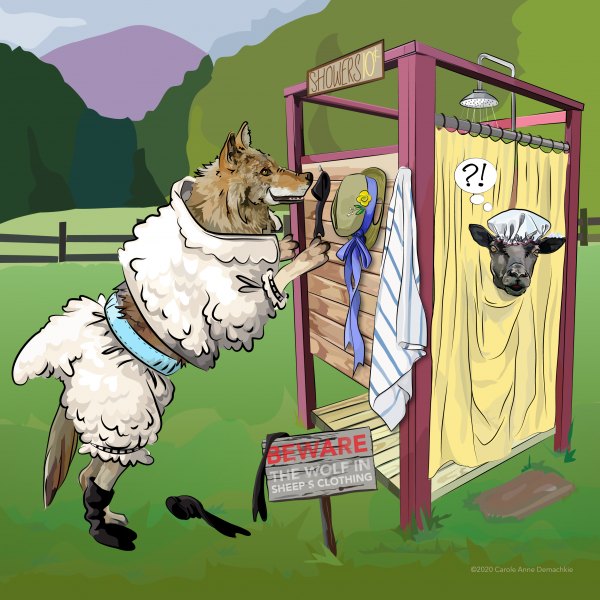 illustration of A Wolf in Sheep's Clothing