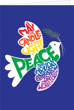 dove of peace illustration with quote